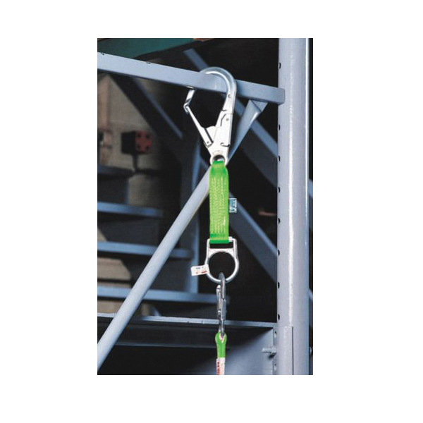 Honeywell Miller® 480-Z7/19INGN Temporary Rebar Hook Anchor With D-Ring, 19 in L x 1-3/4 in W, Polyester, Green