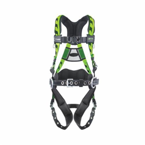 Miller® by Honeywell AirCore™ ACA-QC-D/UGN Harness, Universal, 400 lb Load, Polyester Strap, Quick-Connect Leg Strap Buckle, Quick-Connect Chest Strap Buckle, Aluminum Hardware, Green