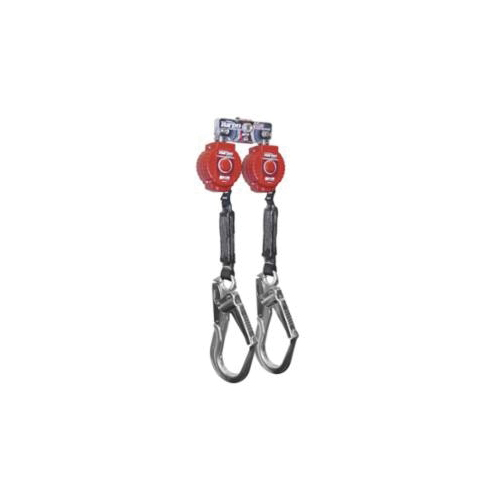 Miller® by Honeywell MFLB-12-Z7/6FT Twin Turbo™ Dual Leg Fall Protection System With Locking Rebar Hooks and D-Ring Connector, 400 lb Load Capacity, 6 ft L, Specifications Met: ANSI A10.32-2012, ANSI Z359.14-2012 Class A, B