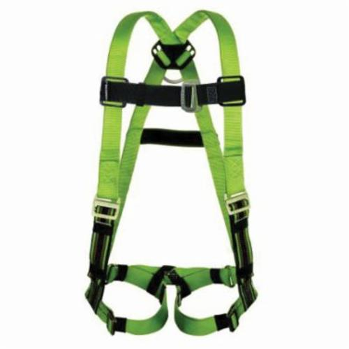 Miller® by Honeywell DuraFlex® Python™ P950QC/S/MGN Harness, S to M, 400 lb Load, Polyester/Urethane Elastomer Strap, Quick-Connect Leg Strap Buckle, Quick-Connect Chest Strap Buckle, Friction Shoulder Strap Buckle, Steel Hardware, Green