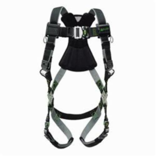 Miller® by Honeywell RDT-QC/S/MBK Revolution™ Harness, S to M, 400 lb Load, DualTech® Strap, Quick-Connect Leg Strap Buckle, Quick-Connect Chest Strap Buckle, Cam Shoulder Strap Buckle, Steel Hardware, Black