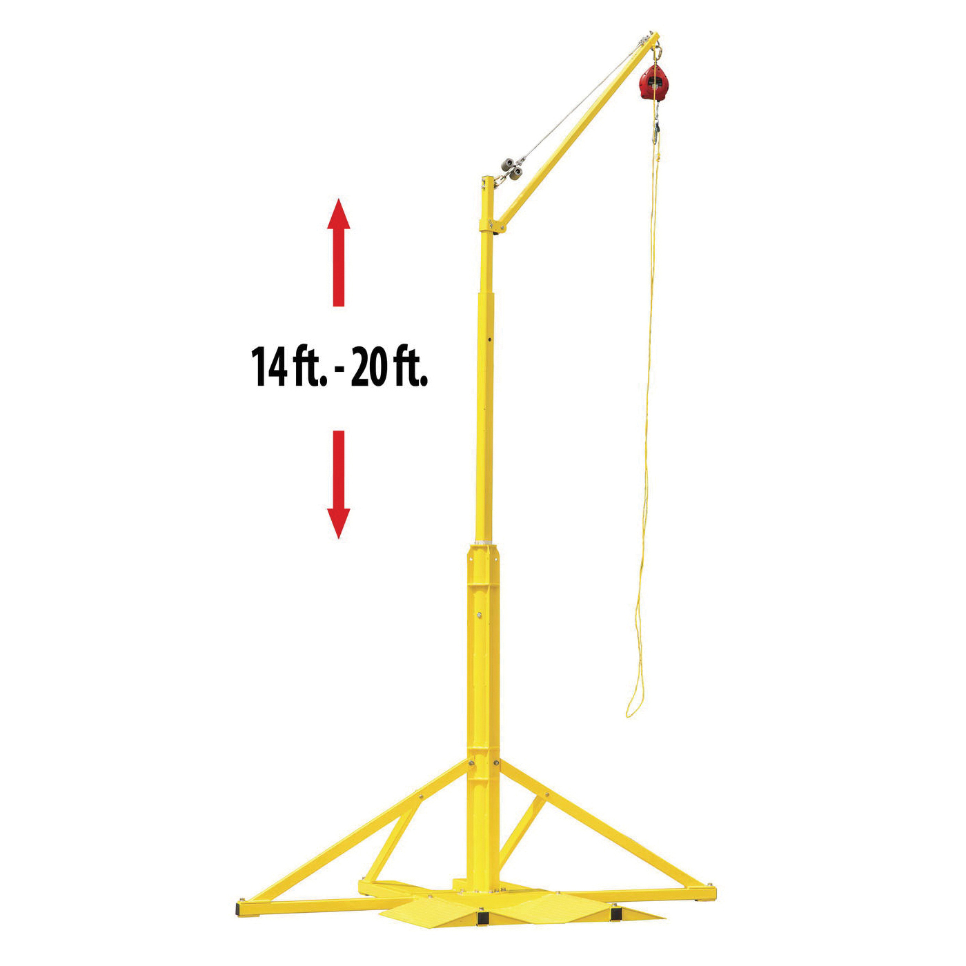 Miller® by Honeywell SkyORB™ SORBSYS SkyORB™ Overhead Rotational Boom Anchor, 240 in OAH, 310 lb Load, Steel, Yellow