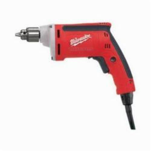 Milwaukee® 0101-20 Magnum™ Grounded Electric Drill, 1/4 in Keyed Chuck, 120 VAC, 4000 rpm, 10-13/64 in OAL, Tool Only