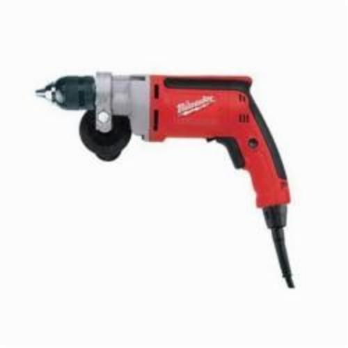 Milwaukee® 0202-20 Magnum™ Grounded Electric Drill, 3/8 in 1-Sleeve/Keyless Chuck, 120 VAC, 1200 rpm, 12 in OAL, Tool Only