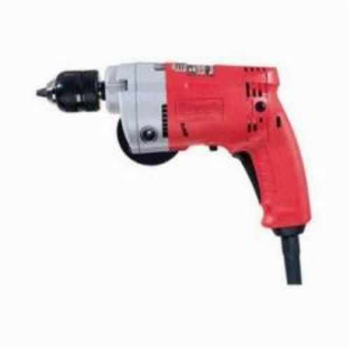 Milwaukee® 0233-20 Magnum™ Double Insulated Heavy Duty Electric Drill, 3/8 in 1-Sleeve/Keyless Chuck, 120 VAC, 0 to 2800 rpm, 10 in OAL, Tool Only