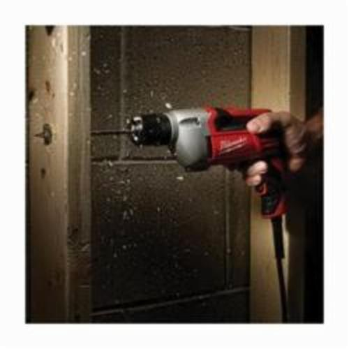 Milwaukee® 0240-20 Heavy Duty Electric Drill, 3/8 in Keyless Chuck, 120 VAC, 0 to 2800 rpm, 10-1/4 in OAL, Tool Only