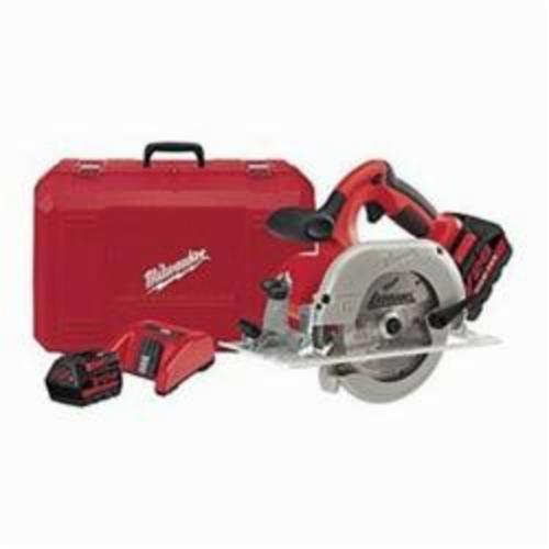 Milwaukee® 0730-22 M18™ Cordless Circular Saw Kit, 6-1/2 in Blade, 5/8 in Arbor/Shank, 28 VDC, Lithium-Ion Battery, Left Blade Side