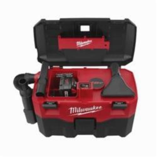 Milwaukee® M18™ 0880-20 Cordless Vacuum, 2 gal, 18 VDC, Lithium-Ion Battery, Polycarbonate Housing