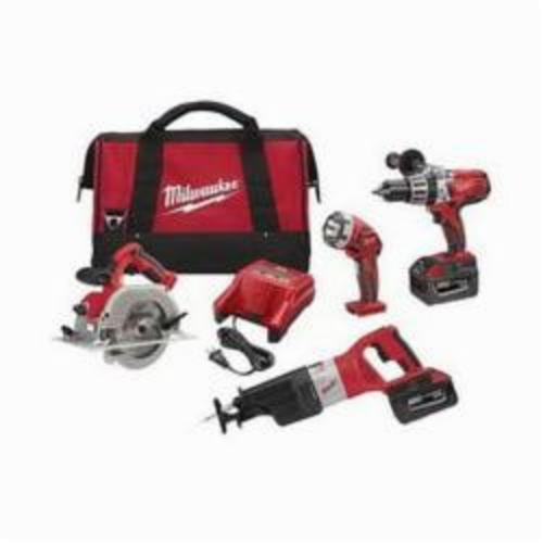 Milwaukee® M28™ 0928-29 Cordless Combination Kit, Tools: Circular Saw, Hammer Drill, Reciprocating Saw, 28 VDC, 3 Ah Lithium-Ion