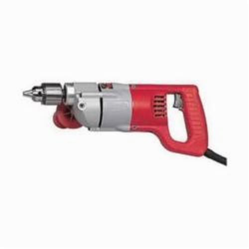Milwaukee® 1001-1 Grounded Electric Drill, 1/2 in Keyed Chuck, 120 VAC, 600 rpm, 14-3/4 in OAL, Tool Only
