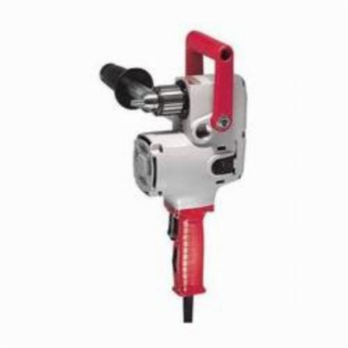 Milwaukee® 1670-1 Hole Hawg® Heavy Duty Variable Speed Drill Kit, 1/2 in Keyed Chuck, 120 VAC, 900 rpm Speed, 6-1/2 in OAL