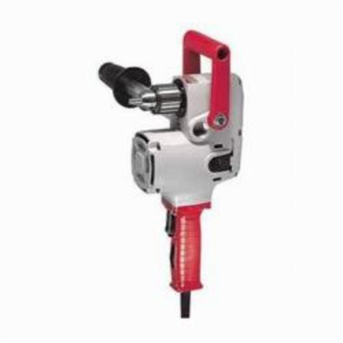 Milwaukee® 1675-6 Hole Hawg® Grounded Heavy Duty Right Angle Drill, 1/2 in Keyed Chuck, 120 VAC, 300 to 1200 rpm, 6-1/2 in OAL, Tool Only