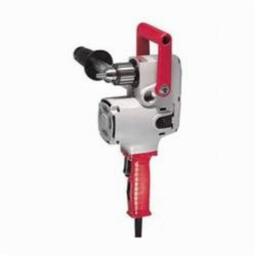 Milwaukee® 1676-6 Hole Hawg® Grounded Heavy Duty Right Angle Drill Kit, 1/2 in Keyed Chuck, 120 VAC, 300 to 1200 rpm, 6-1/2 in OAL