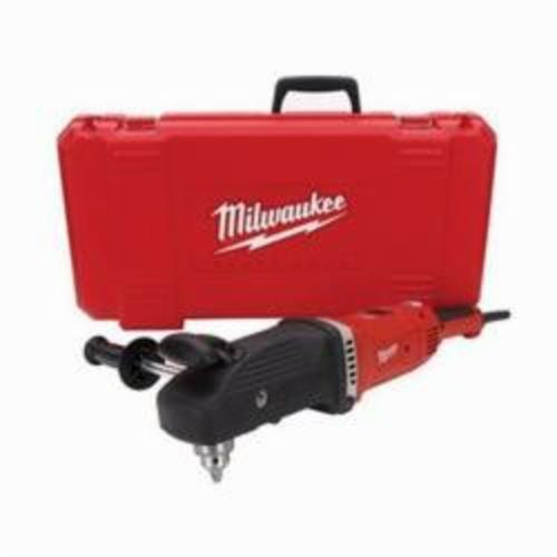 Milwaukee® 1680-21 Super Hawg® Grounded Electric Drill Kit, 1/2 in Keyed Chuck, 120 VAC, 450 to 1750 rpm, 22 in OAL