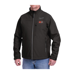 Milwaukee® 201B-20XL M12™ Heated Jacket, XL, Black, Brushed Tricot/Polyester, 44 to 46 in Chest, Resists: Water and Wind