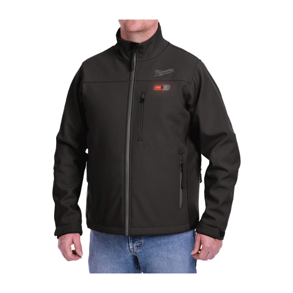 Milwaukee® 201B-21L M12™ Heated Jacket Kit, L, Black, Polyester Outer/Brushed Tricot Inner, 42 to 44 in Chest, Resists: Water and Wind