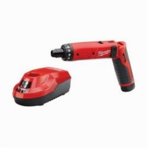 Milwaukee® 2101-21 M4™ Cordless Screwdriver Kit, 1/4 in Chuck, 44 in-lb, 4 VDC, Lithium-Ion Battery, Plastic Housing