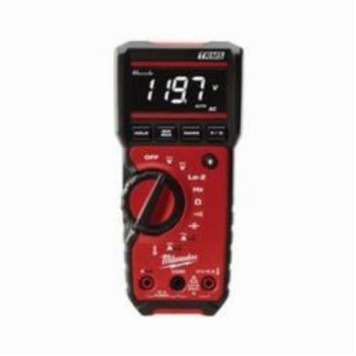Milwaukee® 2217-20 Digital Multimeter, 600 VDC/VAC, 10 A, 40 MOhm, 600 VAC/VDC, 10 A, 40 MOhm, High Contrast White on Black Display