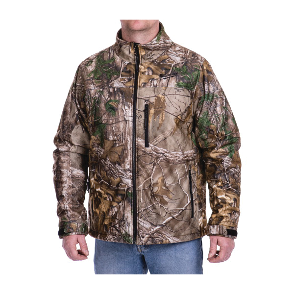 Milwaukee® 221C-20L M12™ Heated Jacket, L, Realtree Xtra® Camouflage, Brushed Tricot/Polyester, 42 to 44 in Chest, Resists: Water and Wind