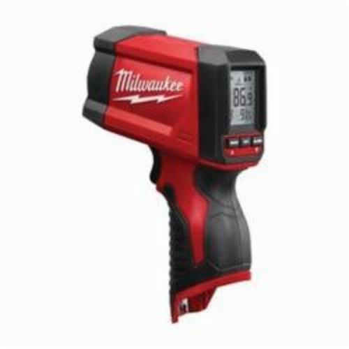 Milwaukee® 2278-20NST TEMP-GUN™ NIST Infrared Thermometer, -22 to 1022 deg F, +/-1.8%, 12:1 Focus Spot, 0.97 Fixed, 12 V Lithium-Ion Battery