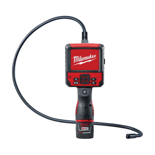 Milwaukee® 2315-21 M12™ M-Spector Flex™ Cordless Inspection Camera Cable Kit, 0.49 in Dia x 3 ft L Probe, 3-1/2 in LCD Display, Black/Red