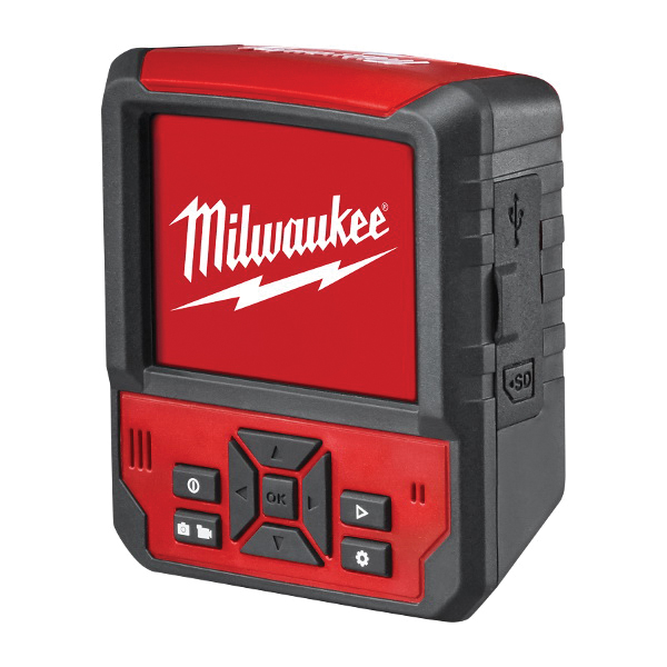 Milwaukee® 2317-21 M12™ M-Spector Flex™ Cordless Inspection Camera Cable With PIVOTVIEW™ Kit, 12.5 mm Dia x 3 ft L Probe, Adjustable LED Lamp Display, Black/Red