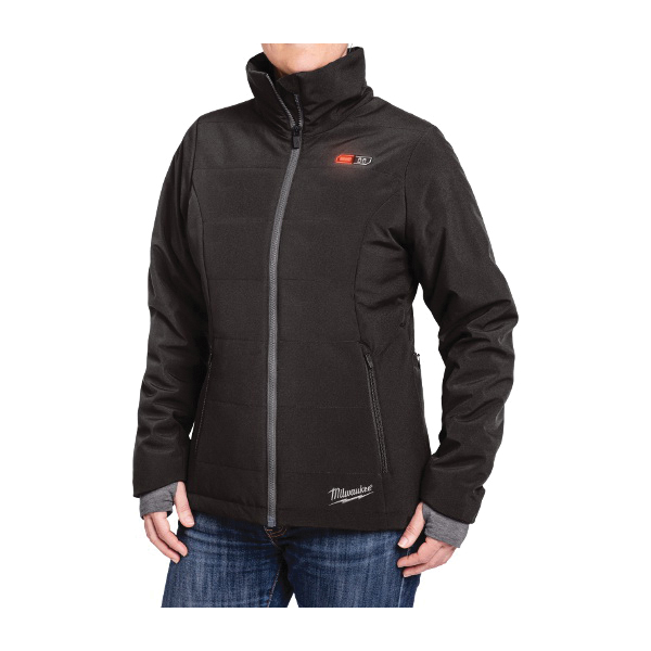 Milwaukee® 231B-212X M12™ Heated Jacket Kit, 2XL, Black, Brushed Tricot/Polyester/Spandex® Softshell, 46 to 48 in Chest, Resists: Water and Wind