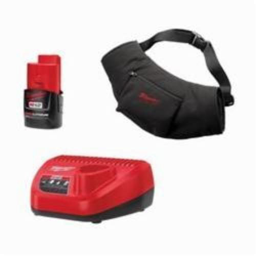 Milwaukee® 2322-21 M12™ Cordless Insulated Heated Hand Warmer Kit, Universal, Black, Polyester, Resists: Water and Wind