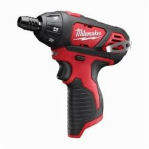 Milwaukee® 2401-20 M12™ Compact Lightweight Cordless Screwdriver, 1/4 in Chuck, 12 VDC, 150 in-lb Torque, Lithium-Ion Battery