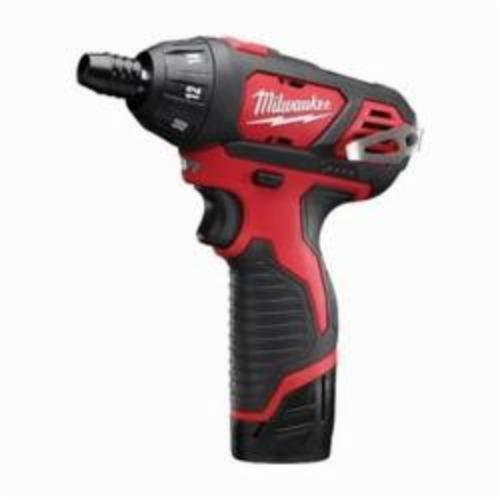 Milwaukee® 2401-22 M12™ Compact Lightweight Cordless Screwdriver Kit, 1/4 in Chuck, 12 VDC, 150 in-lb, Lithium-Ion Battery