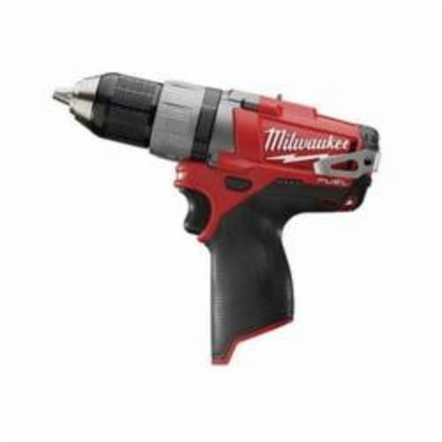 Milwaukee® 2403-20 M12™ FUEL™ Compact Lightweight Cordless Drill/Driver, 1/2 in Chuck, 12 VDC, 0 to 450 rpm, 0 to 1700 rpm No-Load, 7-3/4 in OAL, Lithium-Ion Battery