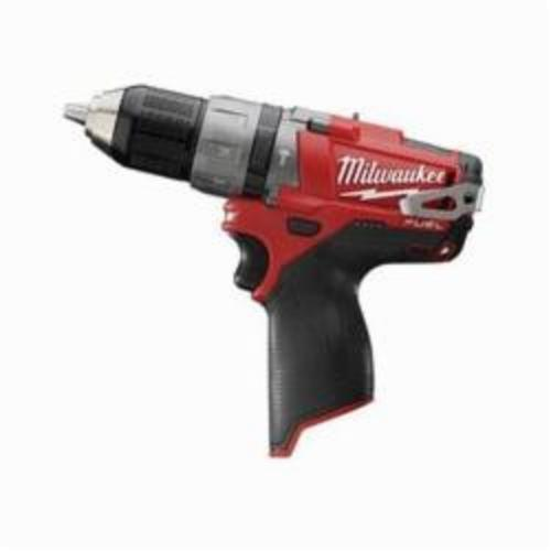 Milwaukee® 2404-20 M12™ FUEL™ Cordless Hammer Drill/Driver, 1/2 in Metal Single Sleeve Ratcheting Lock Chuck, 12 VDC, 450/1700 rpm No-Load, Lithium-Ion Battery