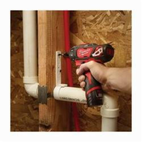 Milwaukee® M12™ 2406-22 Compact Cordless Screwdriver Kit, 1/4 in Chuck, 12 VDC, 275 in-lb Torque, Lithium-Ion Battery