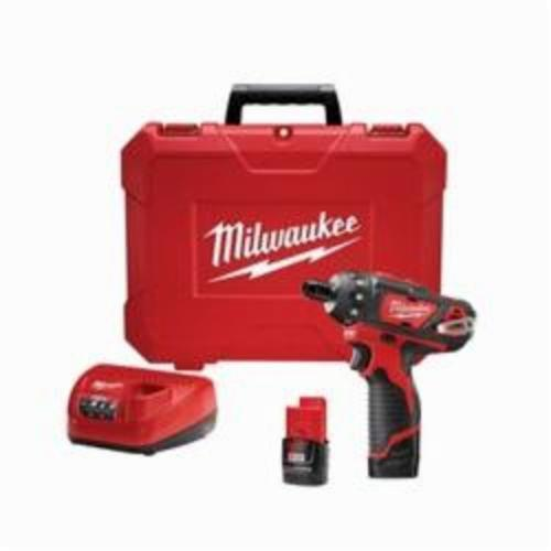 Milwaukee® 2406-22 M12™ Compact Cordless Screwdriver Kit, 1/4 in Chuck, 12 VDC, 275 in-lb, Lithium-Ion Battery