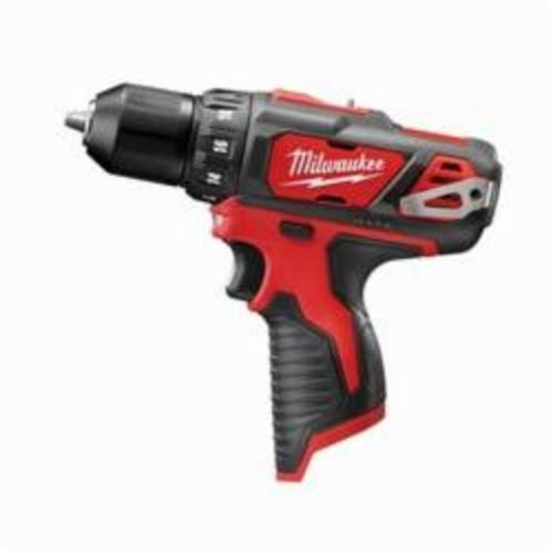 Milwaukee® M12™ 2407-20 Compact Lightweight Cordless Drill/Driver, 3/8 in Chuck, 12 VDC, 0 to 400 rpm, 0 to 1500 rpm No-Load, 7-3/8 in OAL, Lithium-Ion Battery