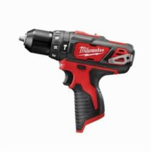 Milwaukee® 2408-20 M12™ Cordless Hammer Drill/Driver, 3/8 in Keyless Chuck, 12 VDC, 400/1500 rpm No-Load