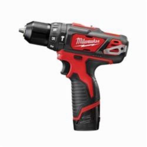 Milwaukee® 2408-22 M12™ Cordless Hammer Drill/Driver Kit, 3/8 in Keyless Chuck, 12 VDC, 400/1500 rpm No-Load