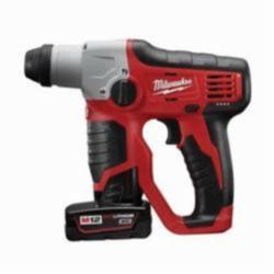 Milwaukee® M12™ 2412-22XC Cordless Rotary Hammer Kit, 1/2 in Keyless/SDS Plus® Chuck, 12 VDC, 800 rpm No-Load, Lithium-Ion Battery
