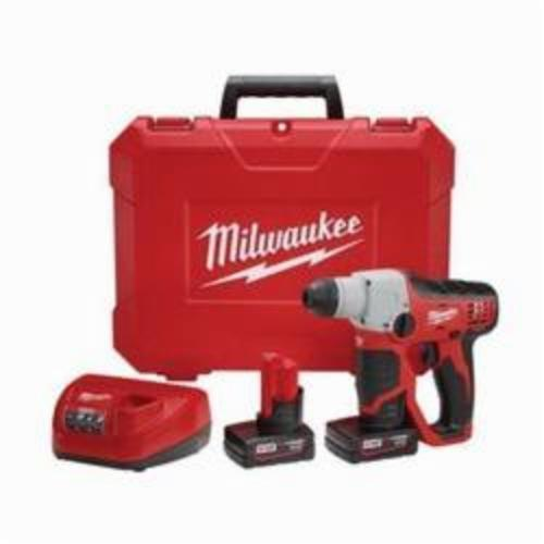 Milwaukee® 2412-22XC M12™ Cordless Rotary Hammer Kit, 1/2 in Keyless/SDS Plus® Chuck, 12 VDC, 800 rpm No-Load, Lithium-Ion Battery