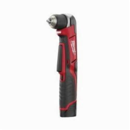 Milwaukee® 2415-21 M12™ REDLITHIUM™ Cordless Right Angle Drill Driver Kit, 3/8 in Keyless/Single Sleeve Chuck, 12 VDC, 100 in-lb, 0 to 800 rpm No-Load, 11-3/4 in OAL, Lithium-Ion Battery