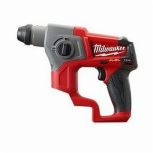 Milwaukee® 2416-20 M12™ FUEL™ Cordless Rotary Hammer, 5/8 in Keyless/SDS Plus® Chuck, 12 VDC, 900 rpm No-Load, Lithium-Ion Battery