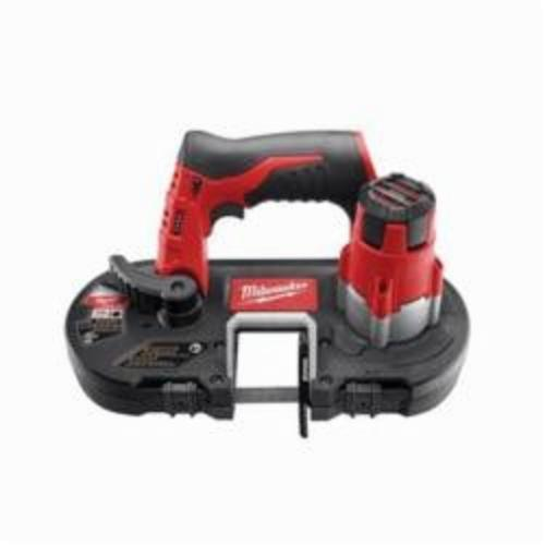 Milwaukee® 2429-20 M12™ Sub Compact Cordless Band Saw, 1-5/8 in Cutting, 27 in L x 0.5 in W x 0.02 in THK Blade, 12 VDC, 4 Ah REDLITHIUM™ XC™ Lithium-Ion Battery