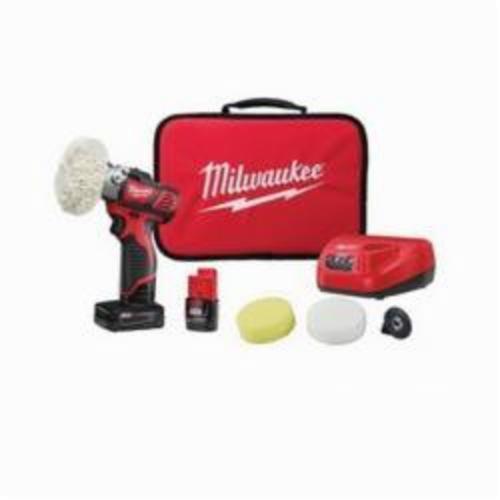 Milwaukee® 2438-22X M12™ Variable Speed Cordless Polisher/Sander Kit, 12 VAC, M12™ REDLITHIUM™ Battery