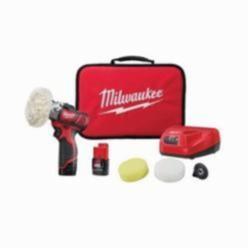 Milwaukee® 2438-22 M12™ Variable Speed Cordless Polisher/Sander Kit, 12 VAC, M12™ REDLITHIUM™ Battery
