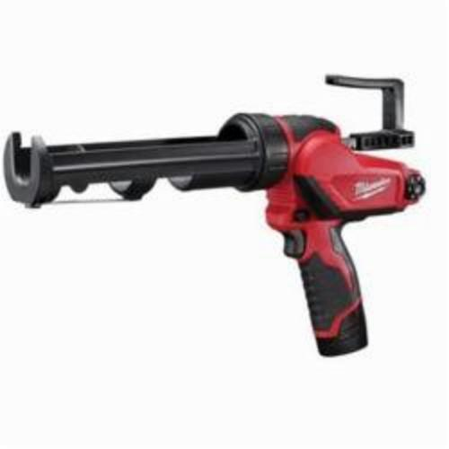 Milwaukee® M12™ 2441-21 Compact Cordless Caulk Gun Kit, 10 oz Capacity, 400 lb, 12 VDC, Lithium-Ion Battery, Metal Housing