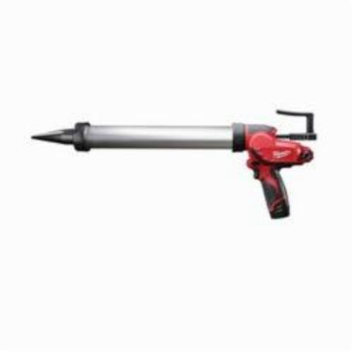 Milwaukee® 2442-21 M12™ Compact Cordless Caulk Gun Kit, 20 oz, 400 lb, 12 VDC, Lithium-Ion Battery, Metal Housing