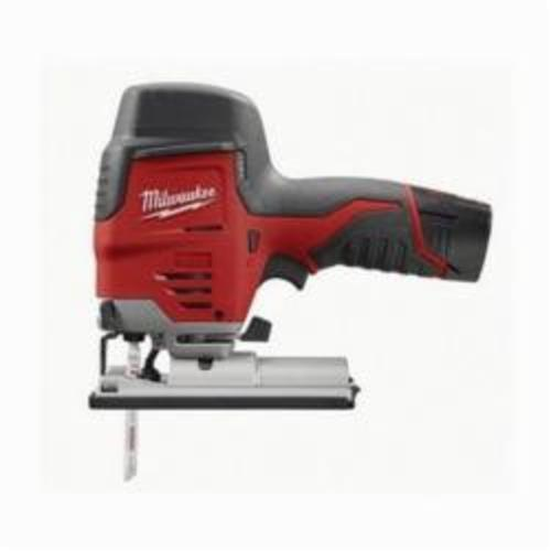 Milwaukee® 2445-21 M12™ Compact High Performance Lightweight Cordless Jig Saw Kit, 12 VDC, For Blade Shank: T-Shank, 8 in OAL, Lithium-Ion Battery