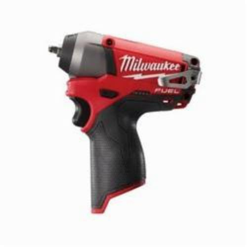 Milwaukee® 2452-20 M12 FUEL™ Compact Cordless Impact Wrench, 1/4 in Straight Drive, 3000/4000 bpm, 500 in-lb, 12 VDC, 5-3/4 in OAL