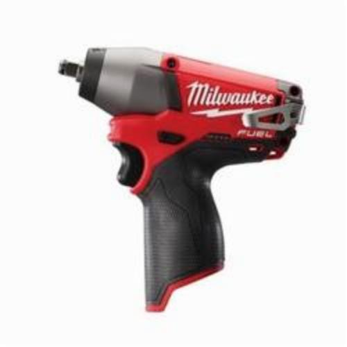 Milwaukee® 2454-20 M12 FUEL™ Compact Cordless Impact Wrench, 3/8 in Straight Drive, 2650/3500 bpm, 117 ft-lb, 12 VDC, 6-1/2 in OAL