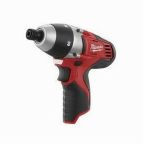 Milwaukee® 2455-22 M12™ Compact Lightweight Cordless Driver Kit, 1/4 in Chuck, 12 VDC, 750 rpm No-Load, 7-1/2 in OAL, Lithium-Ion Battery